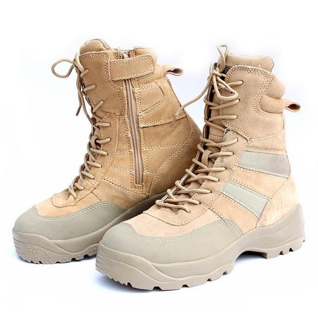 Comercio al por mayor de tácticas de comando masculinas botas de Los Hombres de alta para ayudar a botas Altas botas de combate del desierto botas militares para ayudar a B159