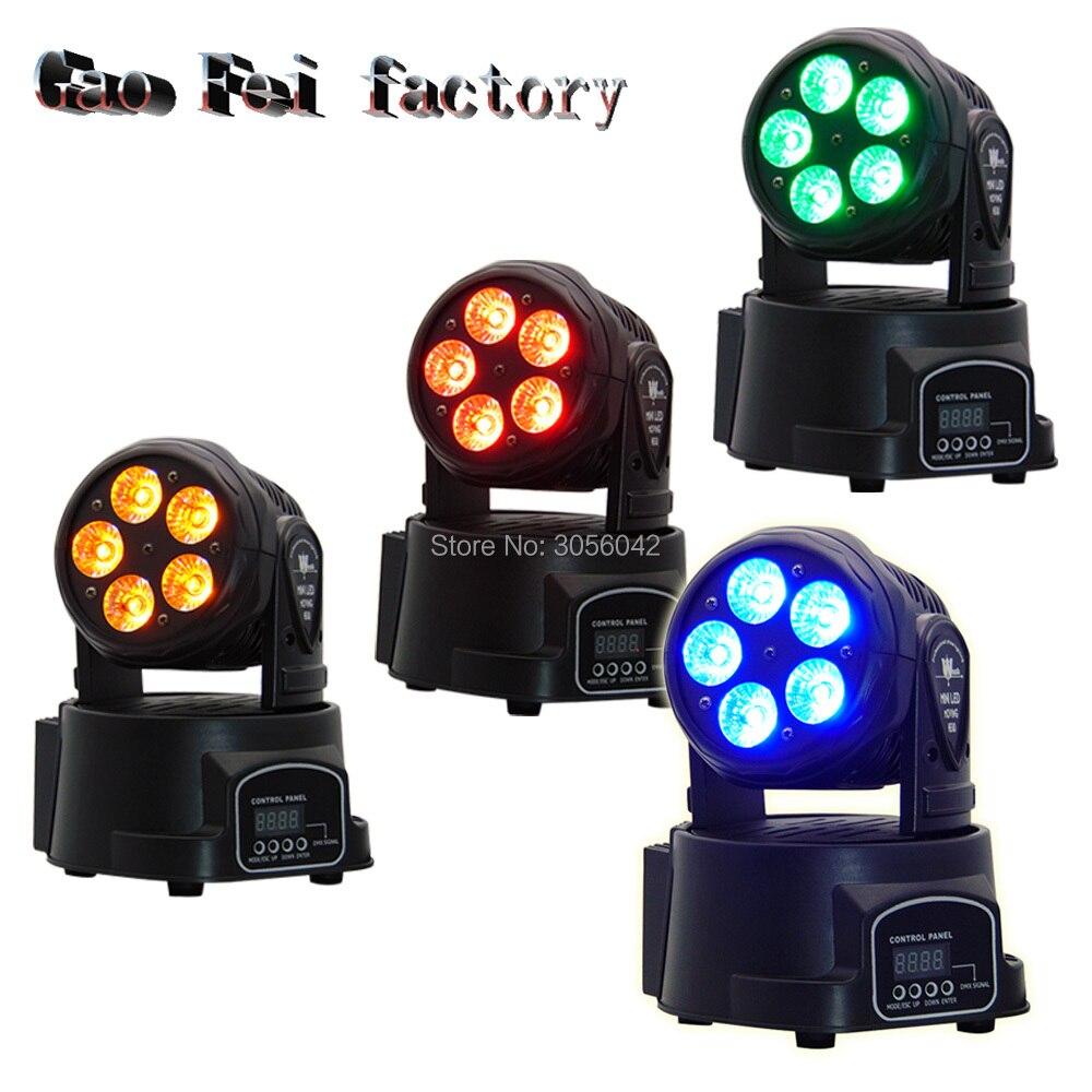 4pcs/Lot 5*15W RGBWA+UV 6in1 mini wash Led Moving Head Light /DMX Wash Effect Lighting4pcs/Lot 5*15W RGBWA+UV 6in1 mini wash Led Moving Head Light /DMX Wash Effect Lighting