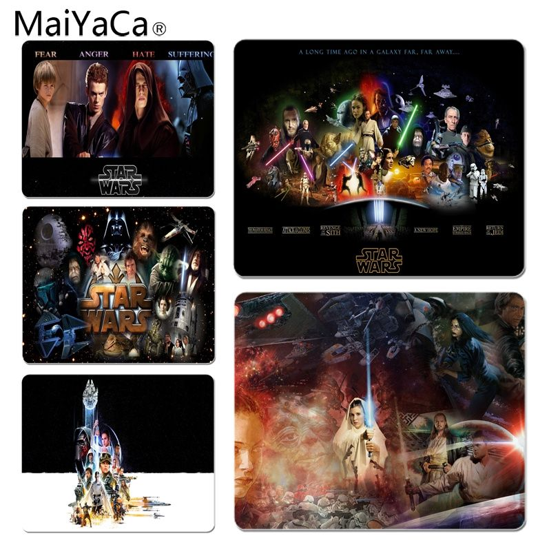 MaiYaCa  StarWars Movie Customized laptop Gaming mouse pad Size for 25X29cm Gaming Mousepads