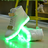NEWarrival Men Women USB Charging LED Shoes 7 Colors Fashion Casual Luminous Shoes That Light Up