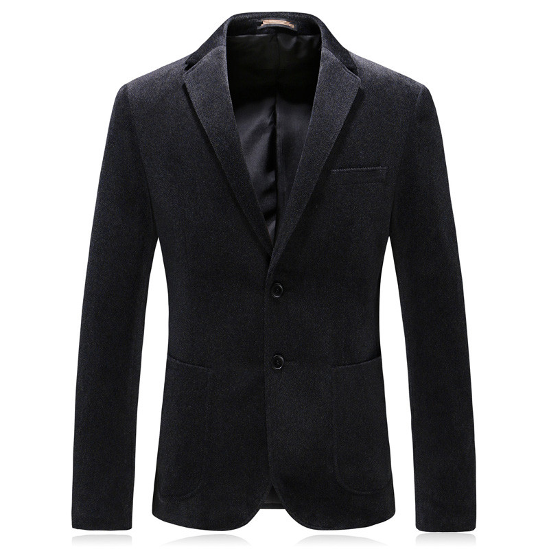 2019 New Style Men's Single Breasted Casual Business Blazer Thicken Corduroy Coats Men's Fashion Blazers Men Jacket S-6XL