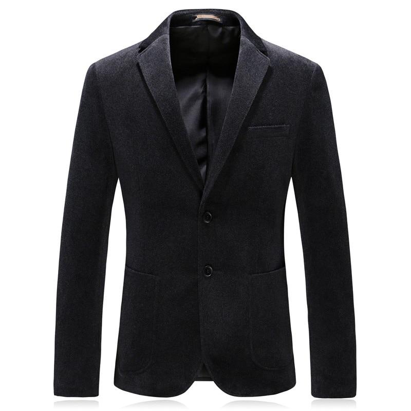 2019 New Style Men's Single Breasted Casual Business Blazer Thicken Corduroy Coats Men's Fashion Blazers Men Jacket S-6XL