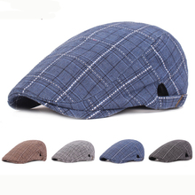 HT2384 Men Women Beret Cap Plaid Newsboy Ivy Flat Cap Adjustable Men Women Cap Spring Summer Sun Hat Artist Painter Men Berets цена и фото