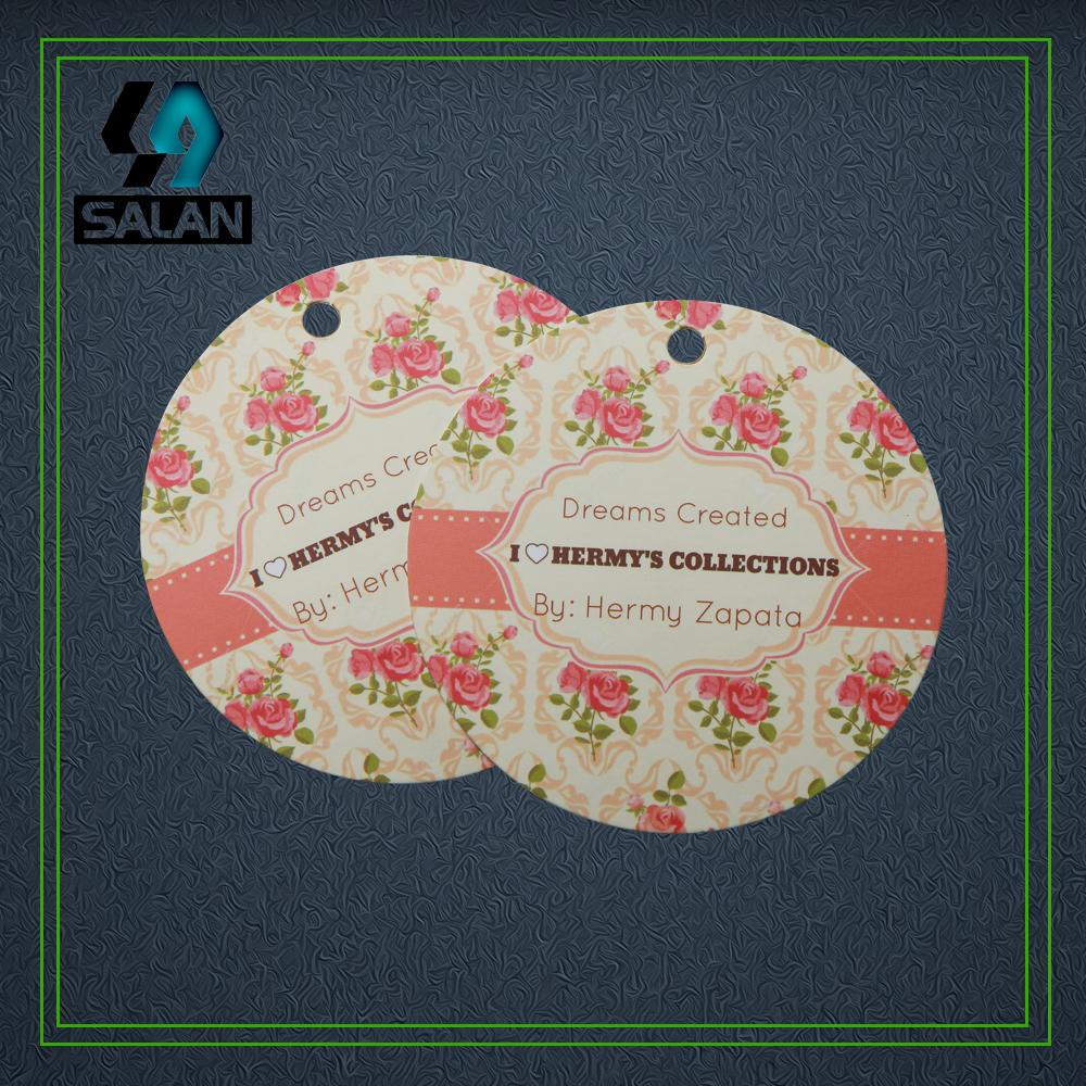 Customize round paper printed clothing Hang tags bookmarks price swing product tags customized luggage tags Business card holder