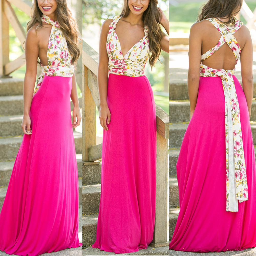 Boutique atractivo de boho Maxi túnica Flirty Multi Way Wrap ...