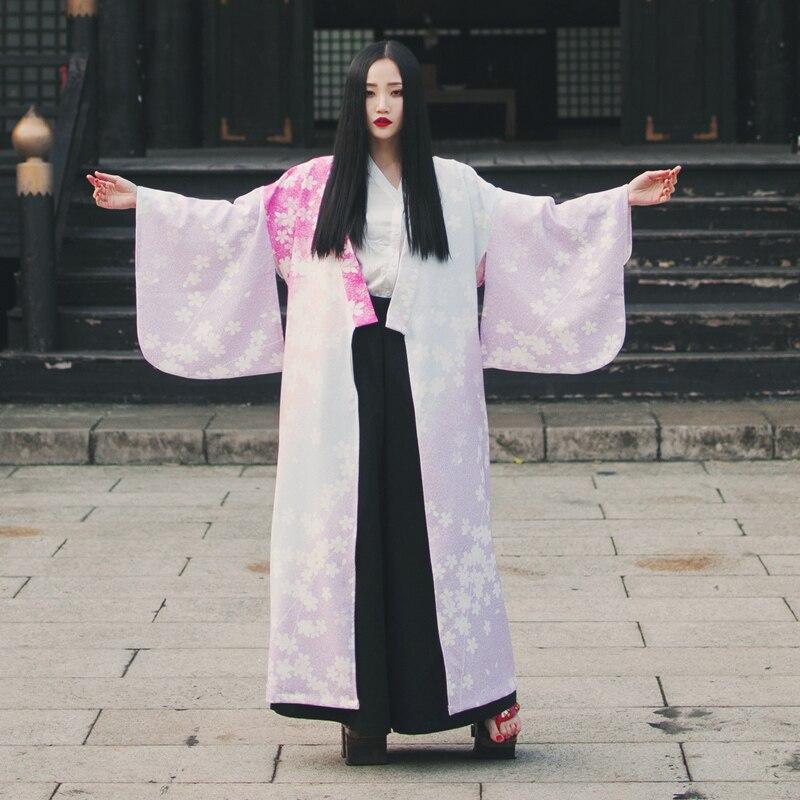 with Della 2018 Random Lungo Donna Kimono Stampa Belt Stile Sellworlder Ciliegia Giapponese No Vestito Allentato Di Alba Nobile Signora Belt Corte xqYS1qUw
