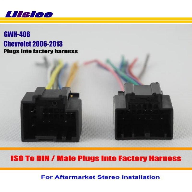 Liislee Auto Stereo Radio ISO Draht-anschluss Kabel Für Chevrolet ...