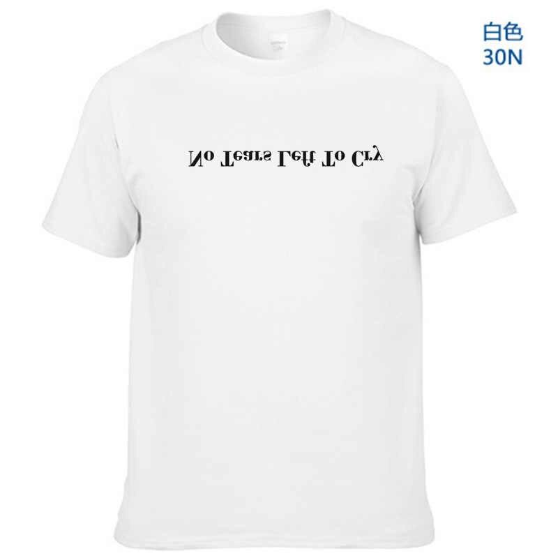 """הדפסת מכתב """"אין דמעות שמאל לבכות"""" אריאנה גרנדה חולצת טי גברים אופנה טי מותג בגדים פופולרי כותנה גותי tShirts חולצות"""