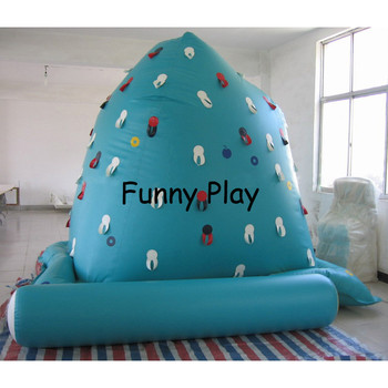 Water iceberg with climbing wall for sale summer water park iceberg with slide rock climbing mountain water iceberg фото