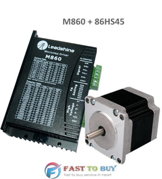 2-phase Stepper Drive and Motor M860 + 86HS45 4.5N.m New rc2604h stepper motor drive 578 586