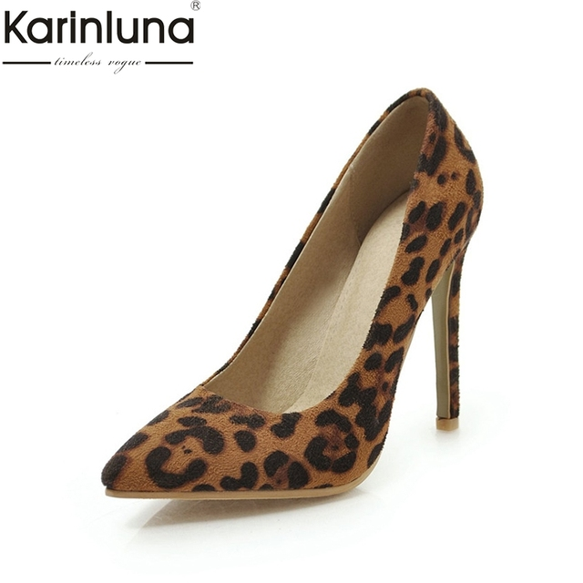 3f299513babc KarinLuna Pointed Toe Sexy Thin High Heels Stiletto 2019 Brand New Ins  Style Plus Size 46 Sexy Party women s Shoes