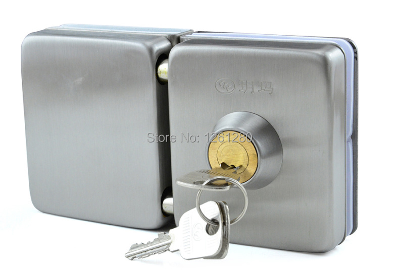 free shipping glass door lock security lock House Ornamentation Door Hardware Lock 304 stainless steel Anti-theft locks europe standard 304 stainless steel interior door lock small 50size bedroom big 50size anti shelf strength handle lock
