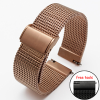 New ultra thin Stainless steel Watchband Mesh strap for Moto 360 smart watch 18mm 20mm 21mm 22mm 24mm Bracelets