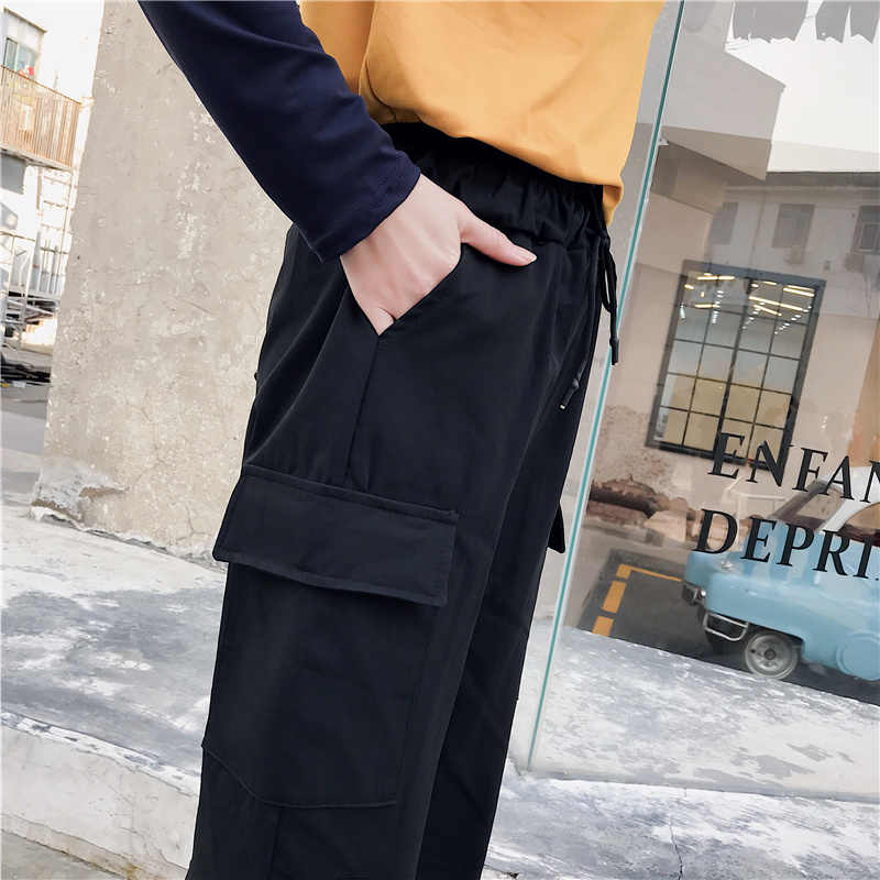 Pantalones Holgados Para Mujeres Verano 2019 Moda Harem Streetwear Pantalones De Chandal Paquete Carta Negro Senora Punk Tumblr Pantalones Pantalones Y Pantalones Capri Aliexpress