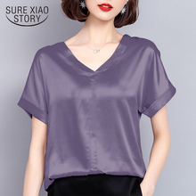 new summer women tops silk casual solid women blous