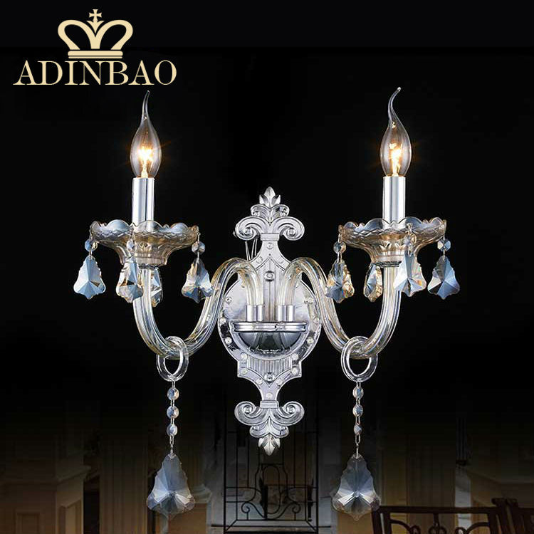 Chrome Color Top K9 Crystal Wall Sconce Ornament Candle ...