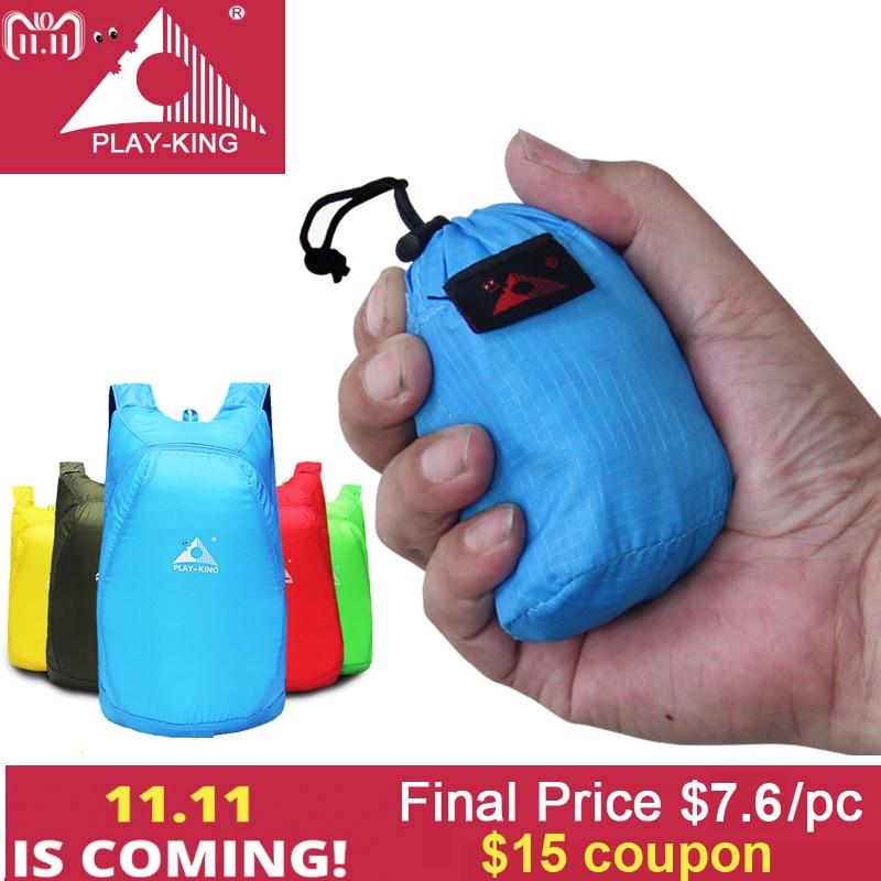 PLAYKING Lightweight Nylon Foldable Backpack Waterproof Backpack Folding Bag Portable Men Women Backpack for Travel shopping bag цена