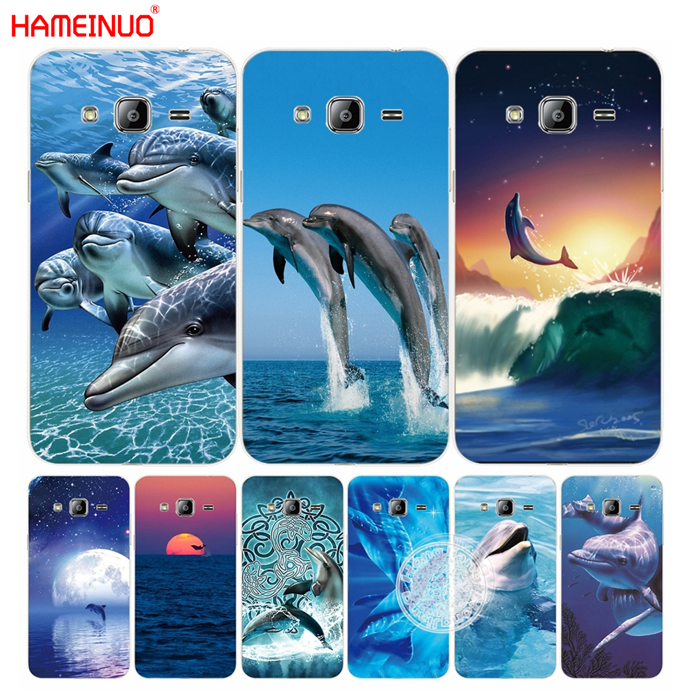 Galleria fotografica HAMEINUO sea animal cute dolphin cover phone case for Samsung Galaxy J1 J2 J3 J5 J7 MINI ACE 2016 2015