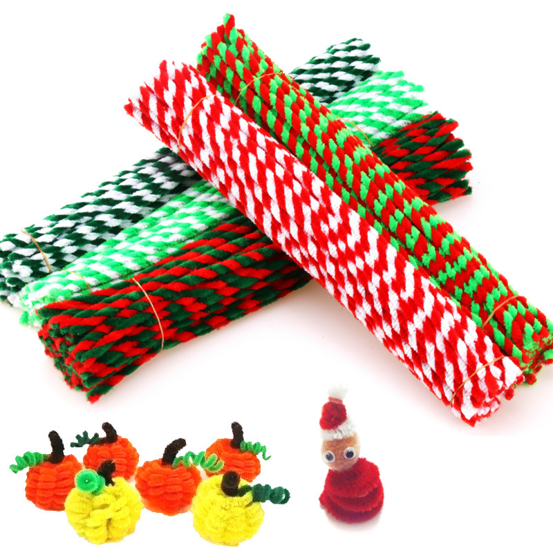 50pcs Chenille Stems Pipe, twisted bar, hair root, hand-made DIY material accessories, childrens intelligence toys