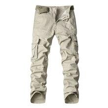 MIXCUBIC Осень зима мужские брюки, тактические хлопковые моющийся комбинезон мужские повседневные свободные военные брюки карго для мужчин, размер 28-40