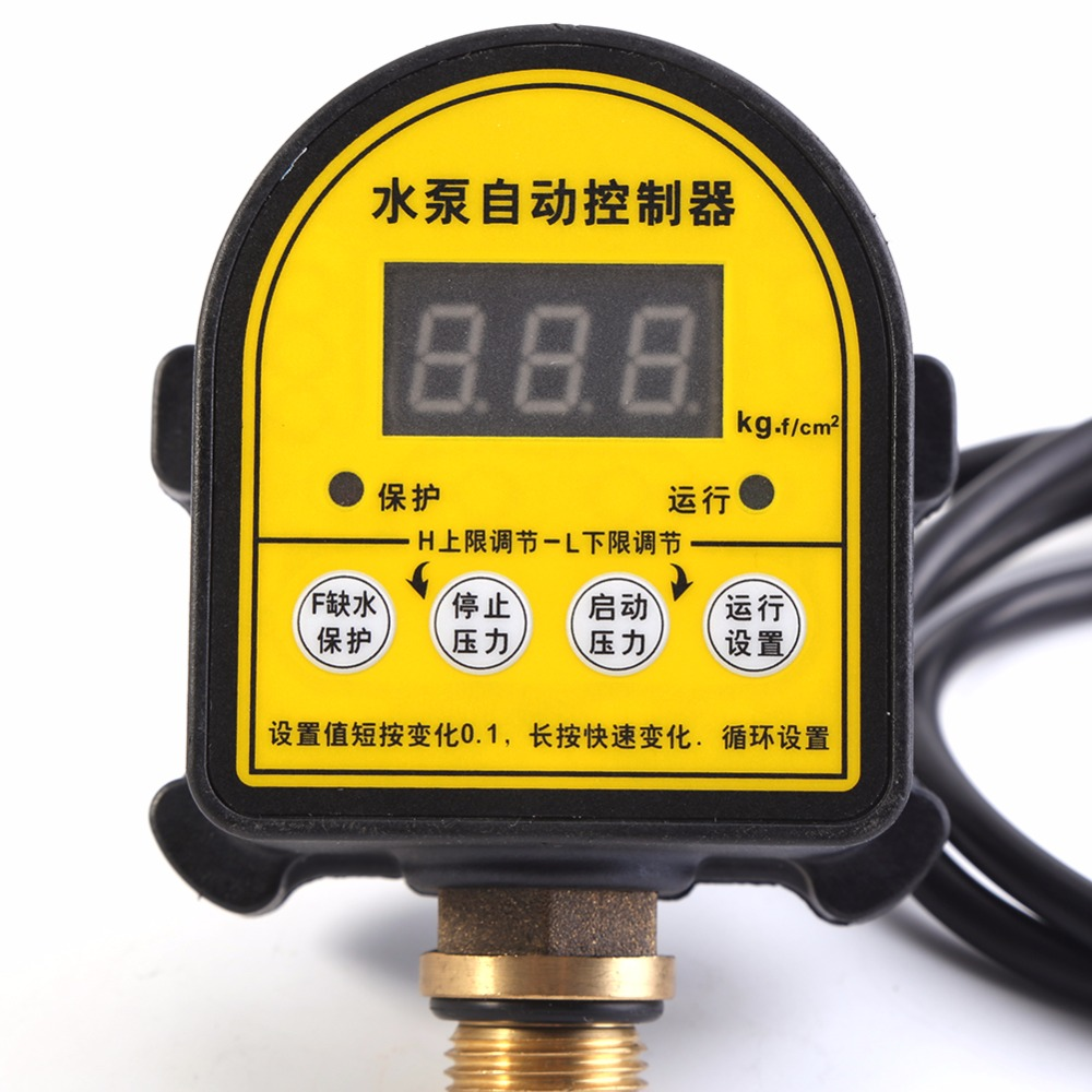 Automatic LCD Digital Water Pump Pressure Control Switch Eletronic Pressure Controller for Water Pump 220V 10A IP466 G1/2 homeleader 7 in 1 multi use pressure cooker stainless instant pressure led pot digital electric multicooker slow rice soup fogao