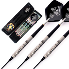 Free Shipping Cuesoul CSTSTD002 Tungsten Soft Tip Darts Dart Shafts Dart Set 3pcs With Case cuesoul aurora blue 18g soft tip tungsten dart set blue titanium nitride coating