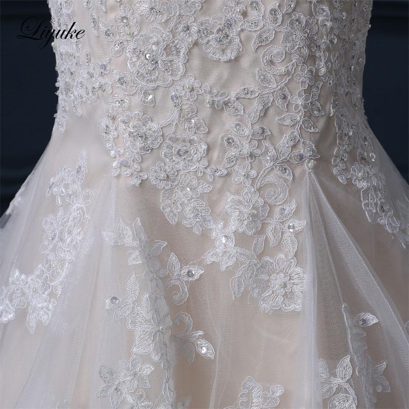 Liyuke Κομψό Σατέν Τούλι Γλυκιά Φόρεμα - Γαμήλια φορέματα - Φωτογραφία 6