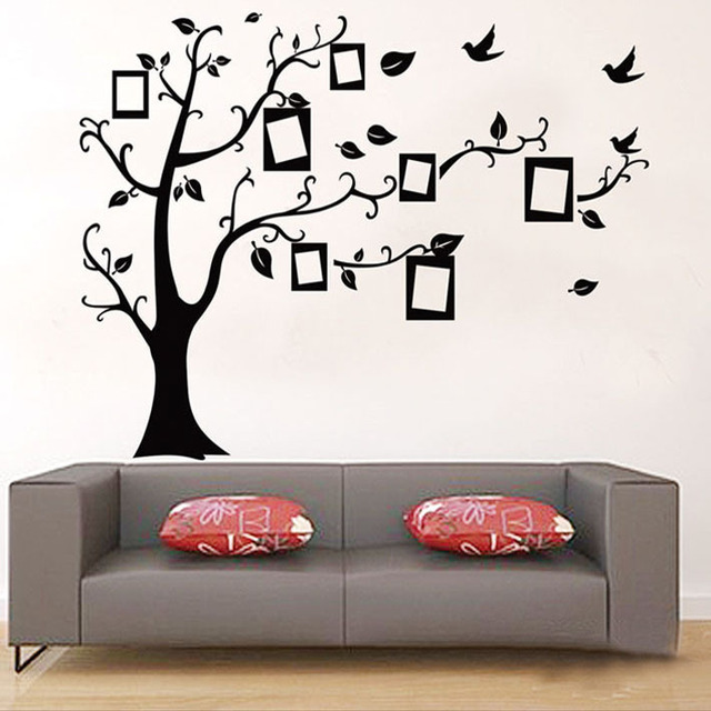 1 set High Quality Removable Photo Frame Wall Sticker Wallpaper With 7pcs Photo Frames for Kids Rooms Living Room Bedroom