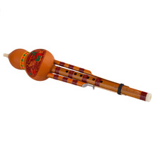 Chinese Yunnan Hulusi Gourd Flute Ethnic Musical Instrument With Gift Box Free shipping