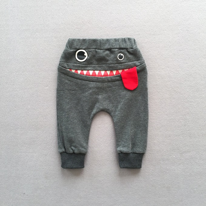 Mother & Kids Casual Baby Children Pants Toddler Boys Girls Cute Big Mouth Monster Trousers Costumes Long Cototn Infant Cartoon Panty Clothes