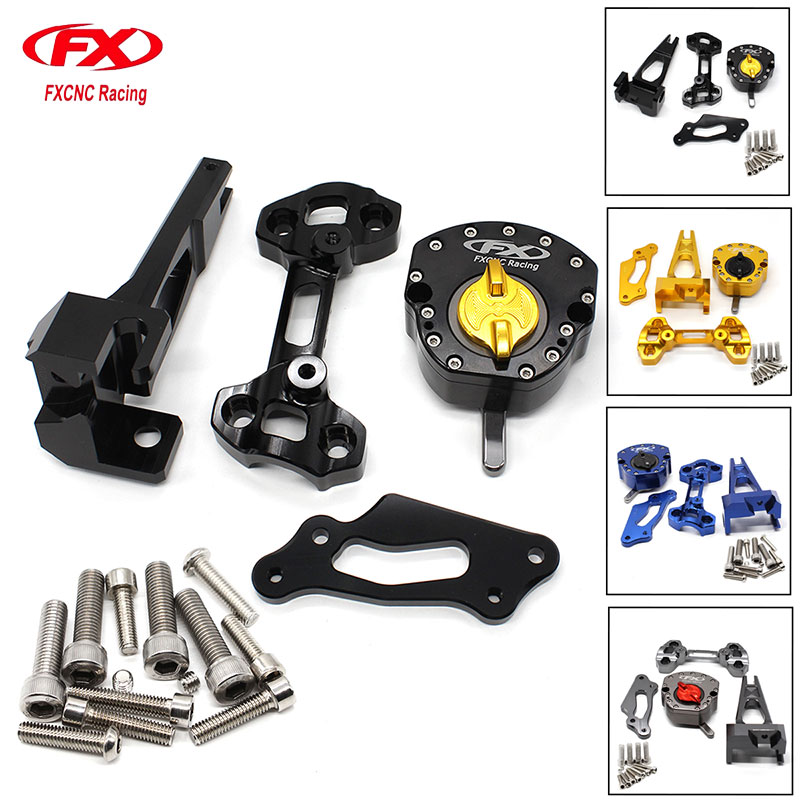 CNC Motorcycle Universal Stabilizer Steering Damper Bracket MountingSupport For Yamaha MT-09 MT09 MT 09 Street Rally 2014 - 2016