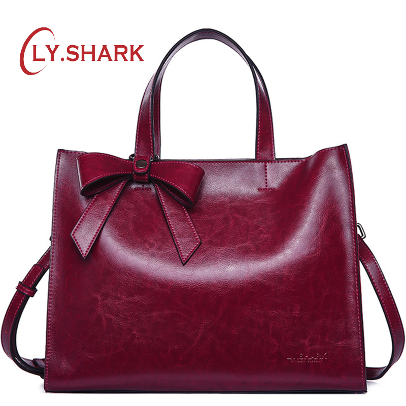 9559328867f US $48.62 24% OFF|LY.SHARK female bag women bag ladies genuine leather bags  for women 2018 crossbody shoulder messenger bag women handbag pink big-in  ...