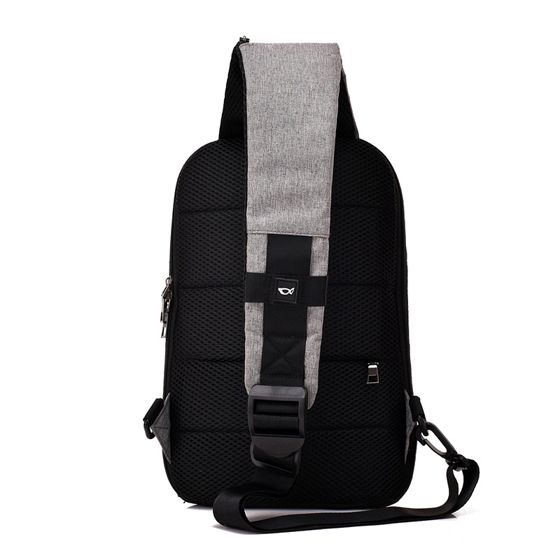 DINGXINYIZU New Men USB Design High Capacity Chest bags Anti theft Man Crossbody Bag Waterproof Male Casual Travel Shoulder Bags in Waist Packs from Luggage Bags