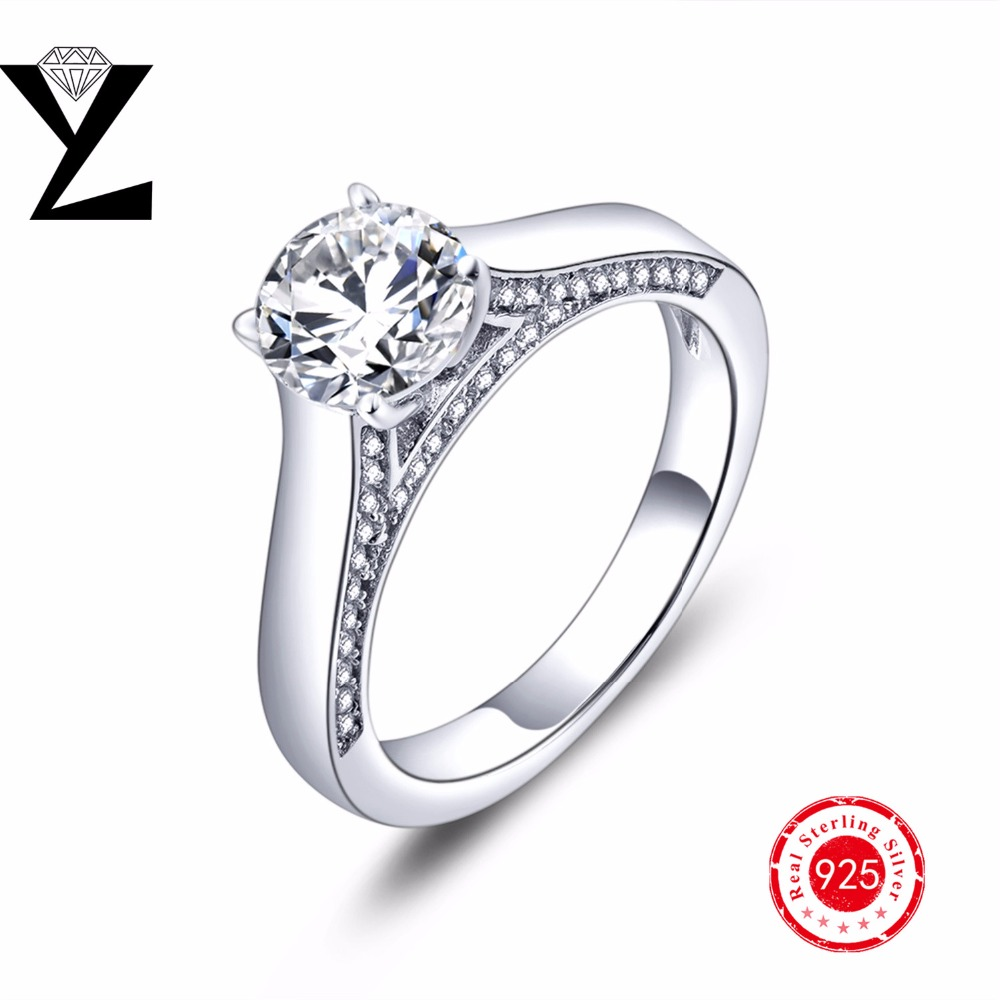 Silver Real Time Quote: Real Lord Of The Ring Silver 925 Engagement Ring For Women