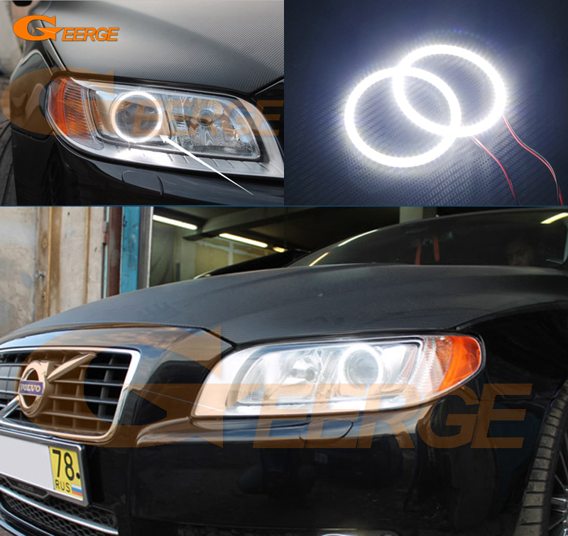 For Volvo V70 2008 2009 2010 2011 2012 2013 2014 2015 Xenon headlight Ultra bright illumination smd led Angel Eyes Halo Ring kit car rear trunk security shield cargo cover for volvo xc60 2009 2010 2011 2012 2013 2014 2015 2016 high qualit auto accessories