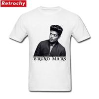 Custom T Shirts Online Bruno Mars Mens Classic Short Sleeve Crewneck Cotton T Shirt Plus Size