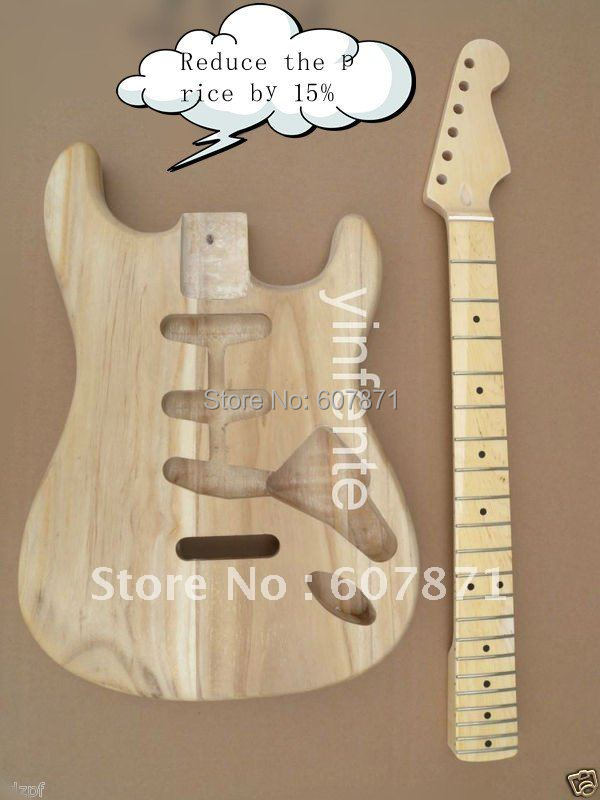 New high quality Unfinished electric guitar body + guitar neck 8# кухонная мойка blanco tipo 45 s compact нерж сталь декор