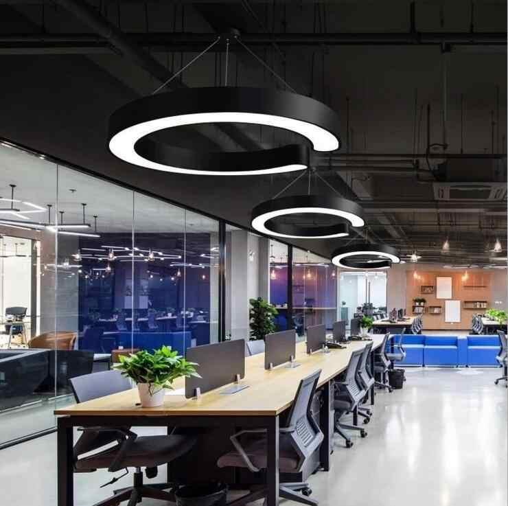 C-образная индивидуальная офисная лампа, светодиодная креативная Люстра для отдыха в Интернете, кафе, ресторана, простая современная бар, лампы светодиодное освещение