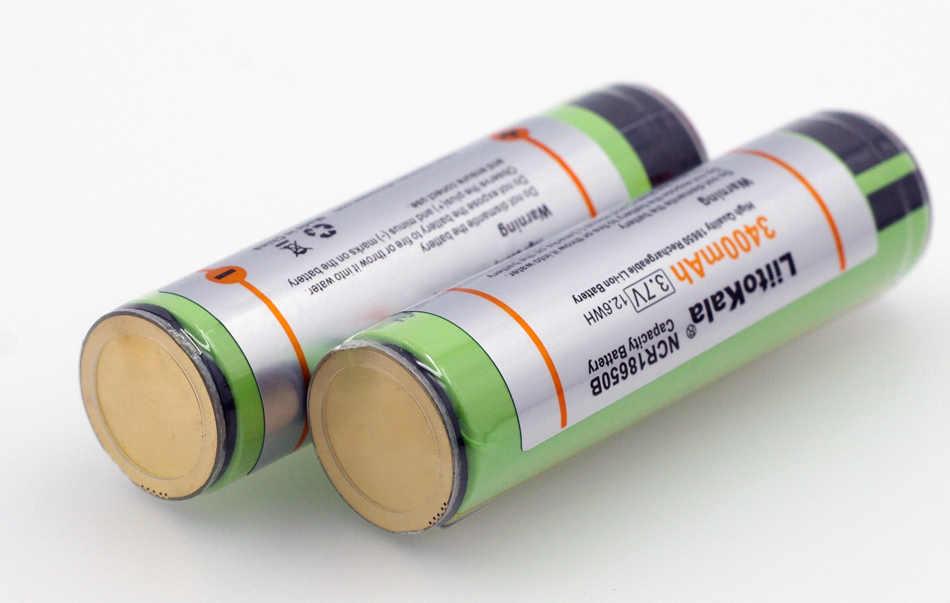 Liitokala 4 PCS New Original 18650 3400 mAh Da Bateria 3.7 V Li-ion Recarregável PCB Bateria Protegido Para lanterna elétrica ferramentas