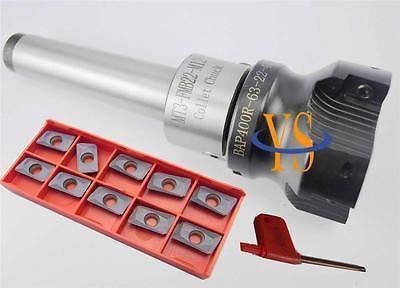 New MT3 M12 FMB22+ BAP400R 63-22-4T Face end mill +10pcs APMT1604 carbide insert CNC Mill precision m16 bt40 400r 63 22 face endmill and 10pcs apmt1604 carbide insert new