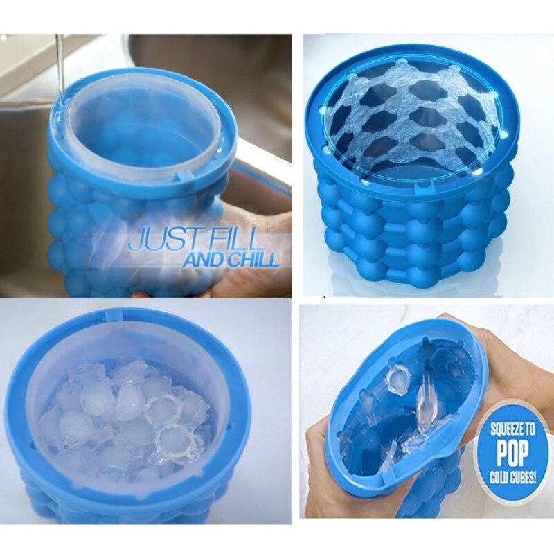 drop ship Space Saving Ice Cubes Maker Ice Genie Kitchen Tools Irlde Ice Genie Ice Cream Tubs Drink Holder Bottles