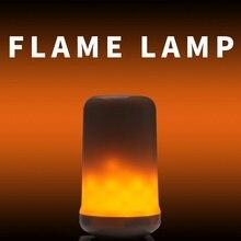 E27 LED Flame Effect Lamp E14 Led Candle Light Bulb 3W 5W E26 Burning 2 Modes Flickering Emulation Decor 85-265V