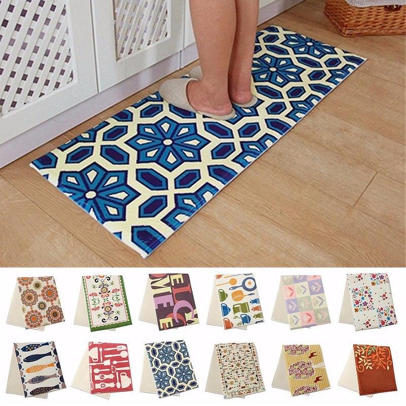 Non Slip Kitchen Home Bedroom Bath Floor Mat 120x45cm Cushion Anti Fatigue Fl Rug