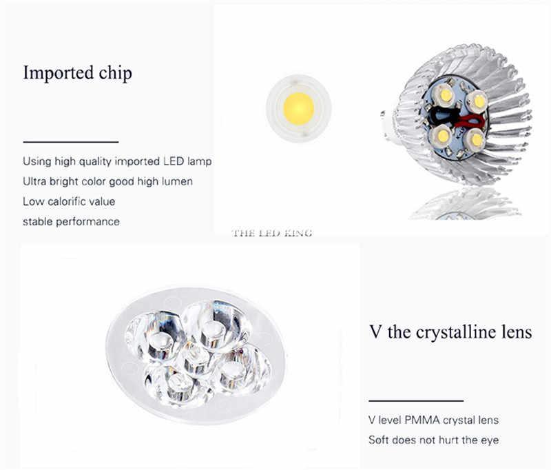 السوبر مشرق 9 واط 12 واط 15 واط E27 E14 GU10 GU5.3 LED لمبة 110 فولت 220 فولت MR16 12 فولت أضواء LED الدافئة الأبيض ضوء كول الأبيض LED مصباح