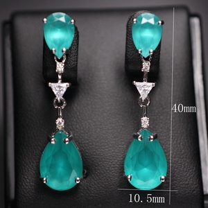 Image 5 - Water drop earrings for women Gifts AAA cubic zircona Long Pendant Dangle Earring Fashion Elegant Charm Earrings Wedding Jewelry