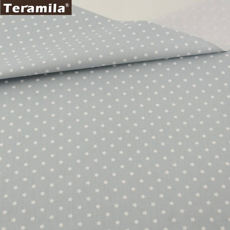 2016 Shining Stars Design 100% Light Gray Cotton Fabric Fat Quarter Textiles para el hogar Sábana Patchwork CM