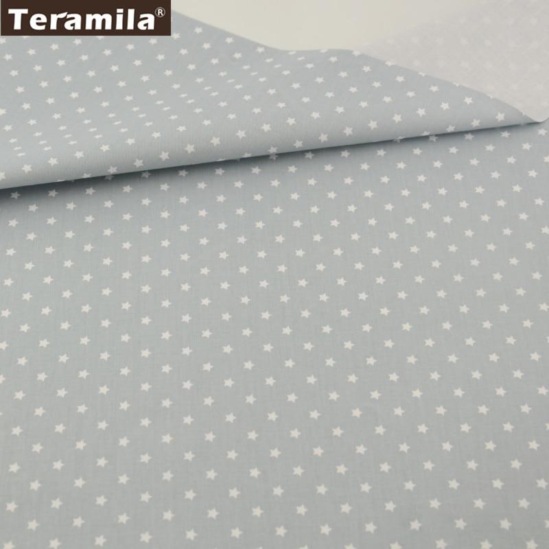 New 50cm x 150cm Cream Brushed Velour Fabric Stars Design
