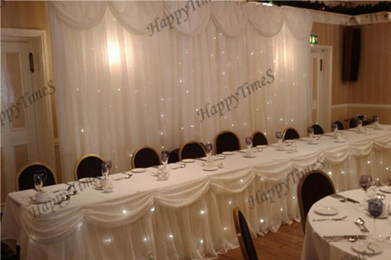 Wedding Background Decorations Lighted Curtain Backdrop With Lighting Table  Skirt In Ice Silk Fabric In Party Backdrops From Home U0026 Garden On  Aliexpress.com ...