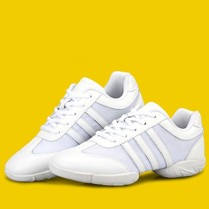 Competitive Aerobics Shoes Woman Soft Bottom Cheerleading Sneakers Shoes Training Square Dance Shoes Female Adult Gym Shoes