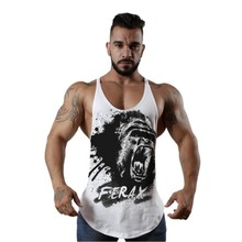 Gorilla Hot Sale printing vest font b Men s b font Tank Tops Sleeveless Shirt tank